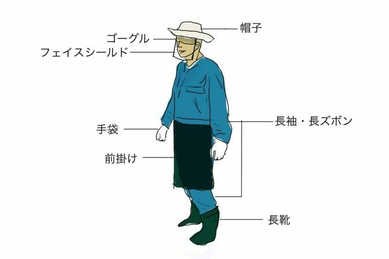 草刈機を使用するときのベストな服装