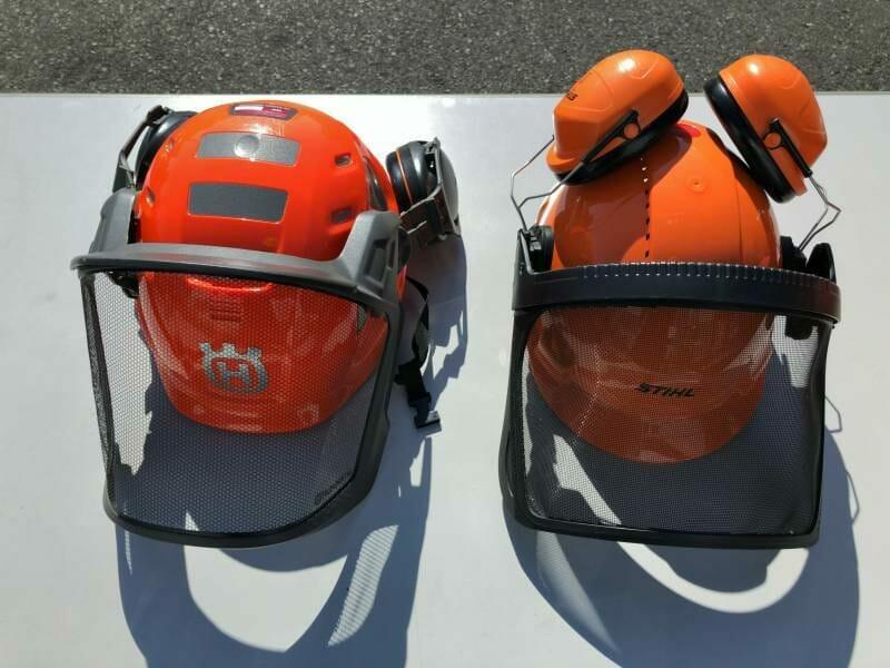 チェンソーヘルメットの写真