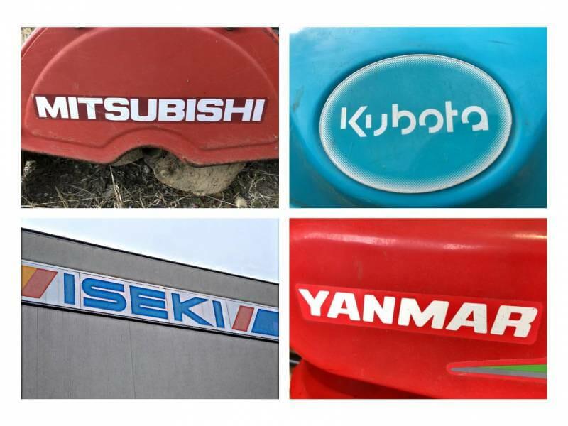 四大農機メーカーのロゴ写真