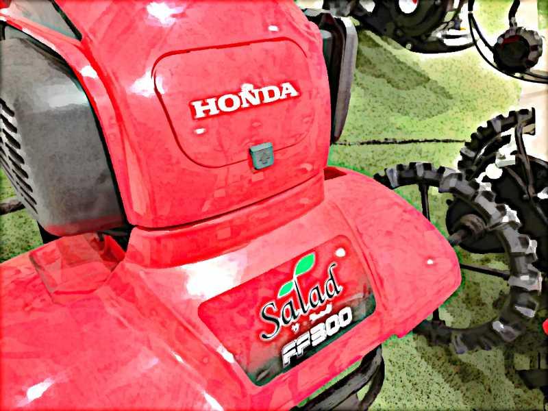 ホンダサラダ(salad)は、圃場でもガーデニングでも便利に使える軽量小型の農業機械