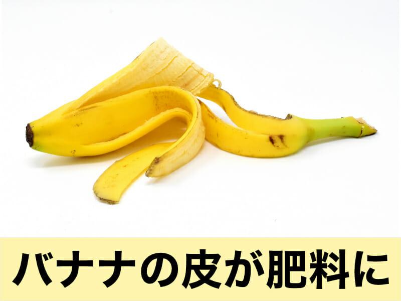 バナナの皮を肥料として活用する方法を解説した記事のバナーです。