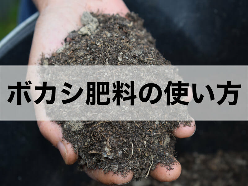 ぼかし肥料の使い方に関する記事のバナーです。