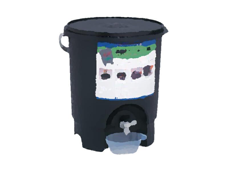 生ゴミ処理専用容器のイラストです。
