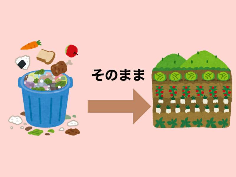 生ゴミをそのまま肥料として使用する事に関する記事のバナーです。